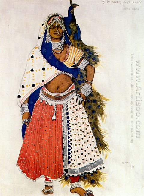 Le Dieu Bleu Bayadere With Peacock 1912