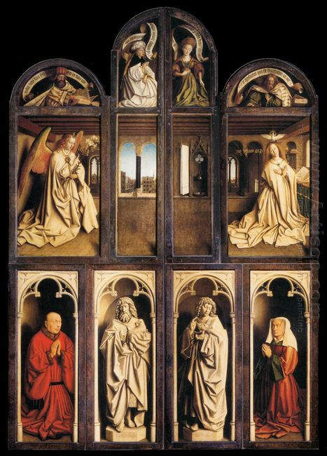 Left Panel From The Ghent Altarpiece 1432