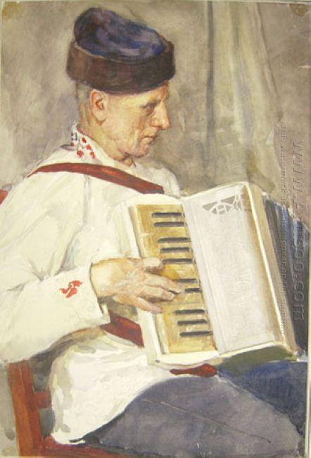 Lettish Accordionist