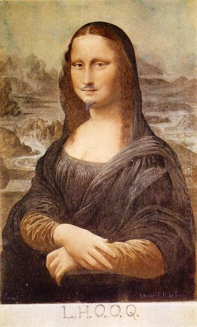 L H O O Q Mona Lisa With Moustache 1919