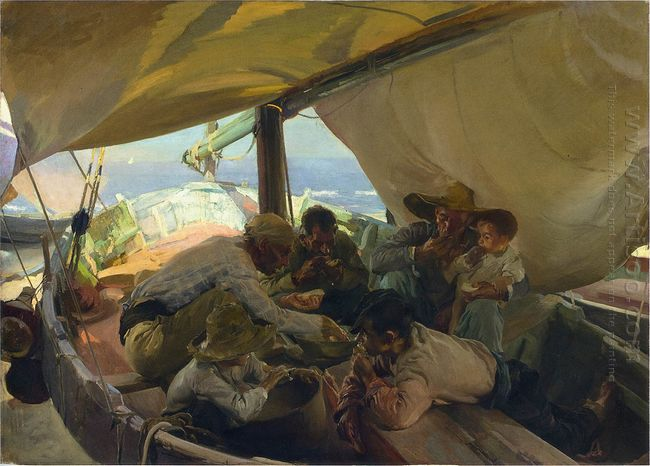 Lunch On The Boat 1898