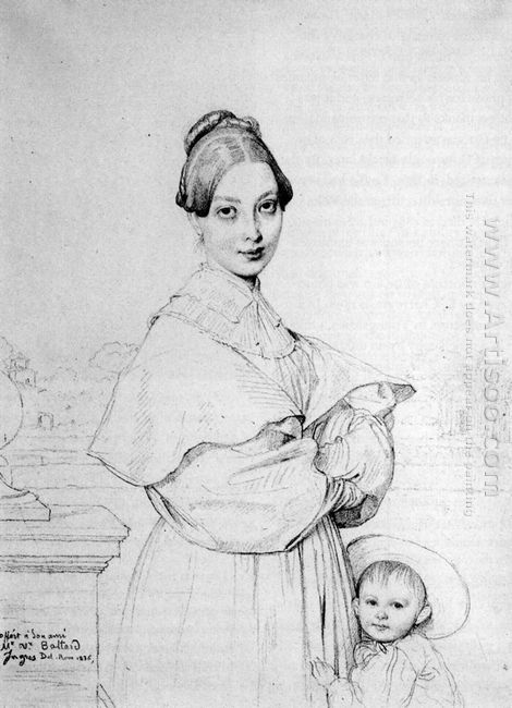 Madame Baltard And Her Daughter Paule 1836
