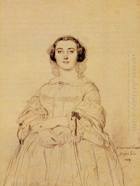 Madame Charles Simart Born Amélie Baltard