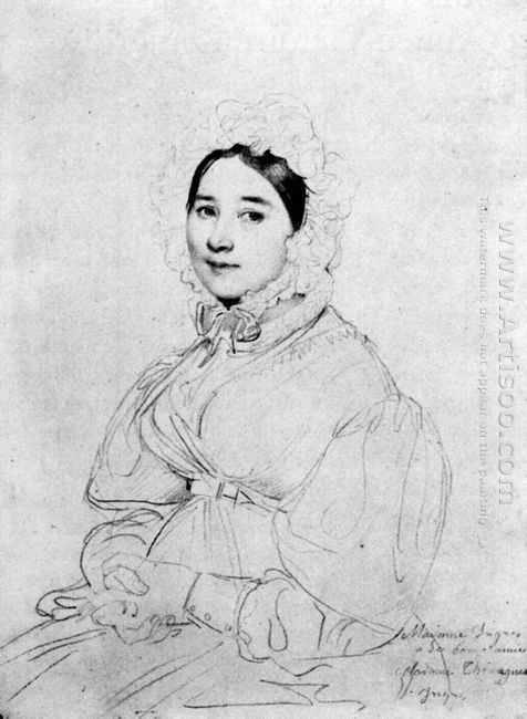 Madame Jean Auguste Dominique Ingres Born Madeleine Chapelle Iii