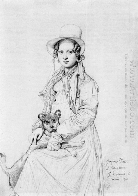 Mademoiselle Henriette Ursule Claire Maybe Thevenin And Her Dog