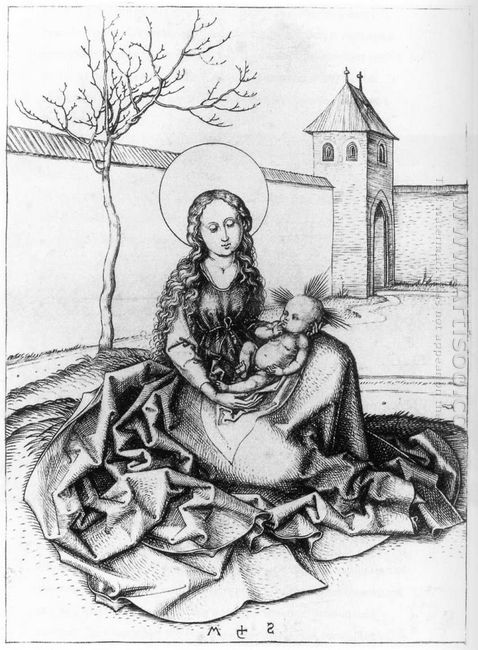 Madonna And Child In The Couryard