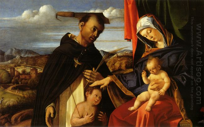 Madonna And Child With Saint Peter Martyr 1503