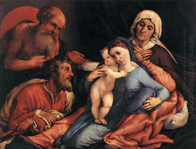 Madonna And Child With St Jerome St Joseph And St Anne 1534