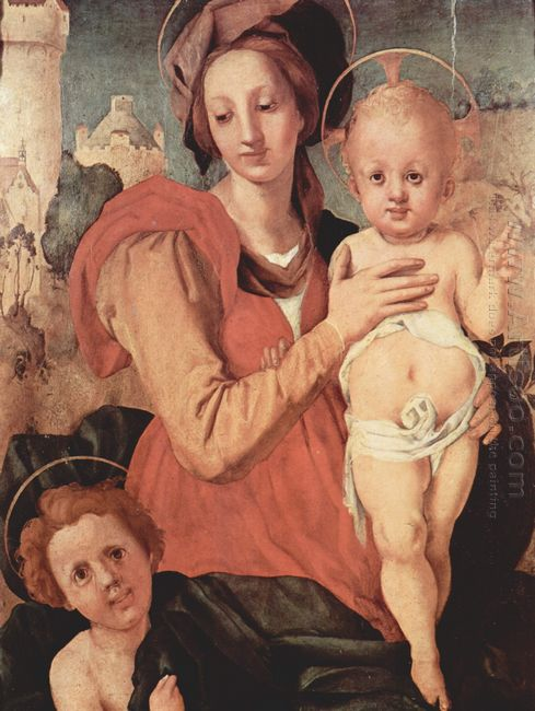 Madonna And Child With The Young Saint John 1524