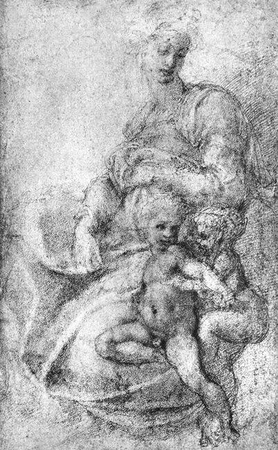 Madonna Child And St John The Baptist