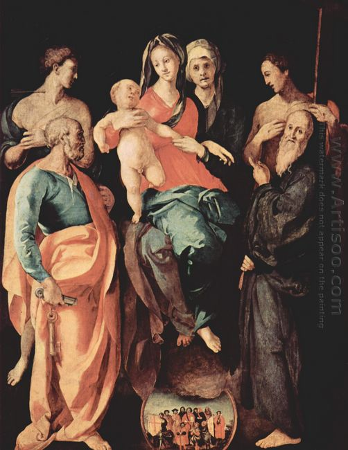 Madonna With St Anne St Sebastian St Peter St Benedict And St Fi