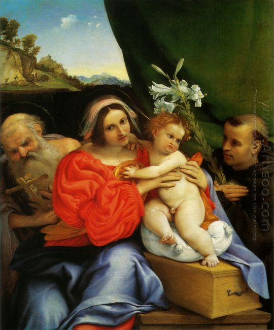 Madonna With St Jerome And St Anthony Of Padua 1521