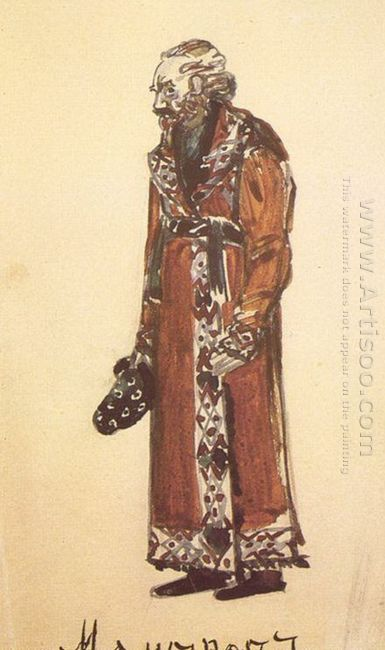 Mamyrov The Old Deacon Costume Design For The Opera The Enchantr