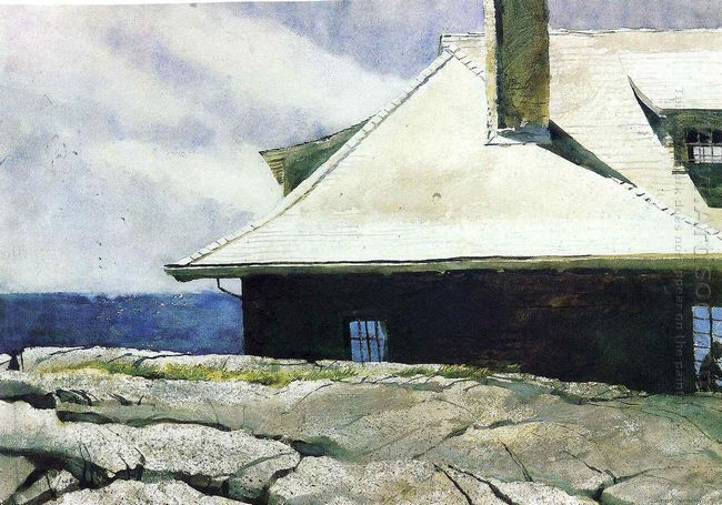 Man Reading Monhegan 1974