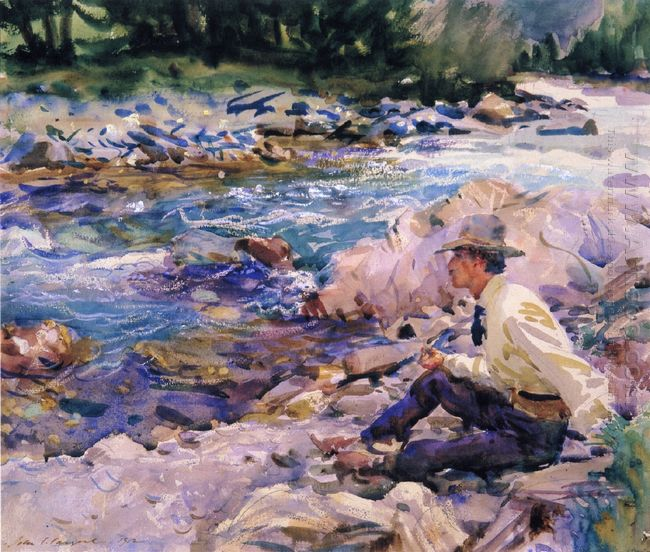 Man Seated By A Stream 1912