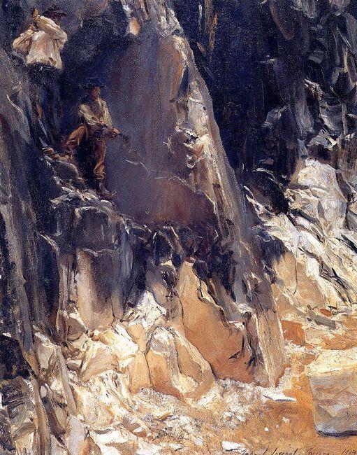 Marble Quarries At Carrara 1913