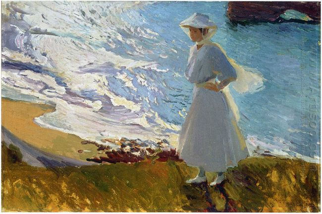 Maria At The Beach Biarritz 1906