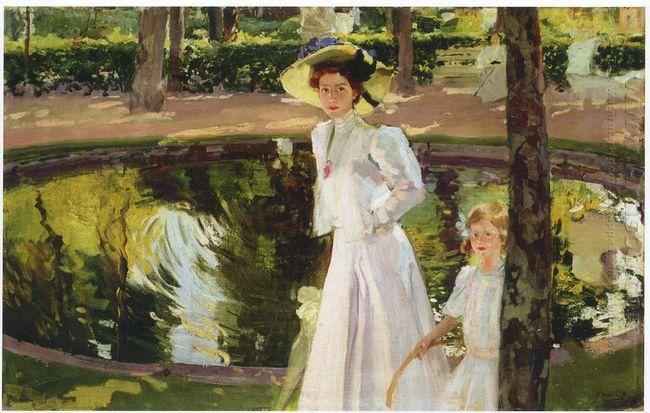 Marian In The Gardens La Granja 1907