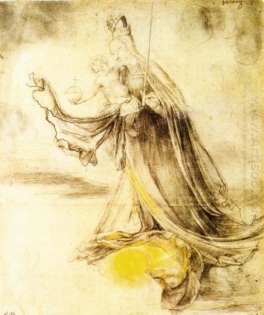 Mary With The Sun Below Her Feet