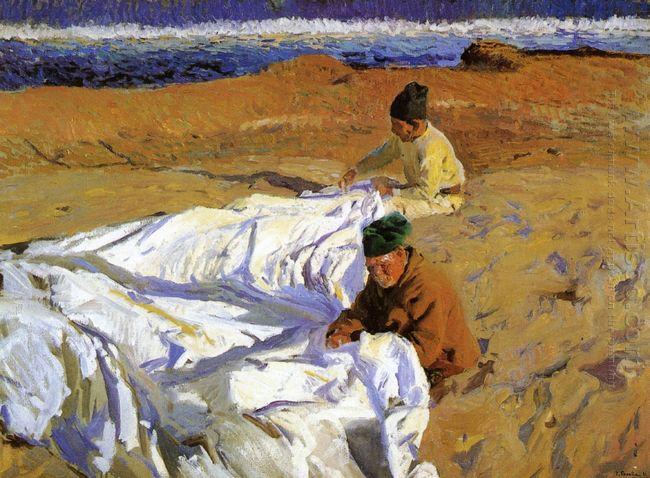 Mending The Sail 1904