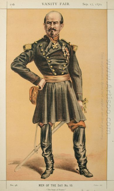Men Of The Day No 100 Caricature Of Gen Louis Jules Trochu Capti
