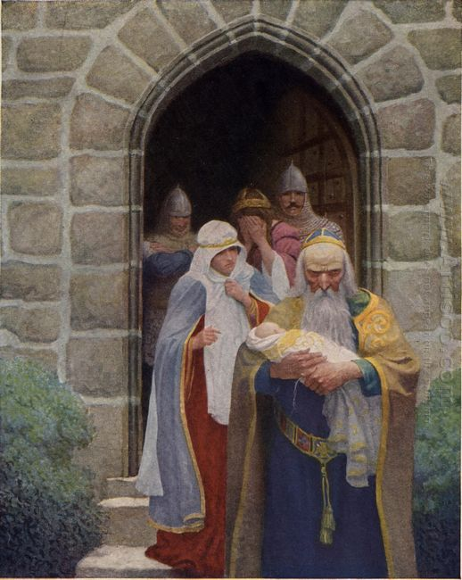 Merlin Taking Away The Infant Arthur