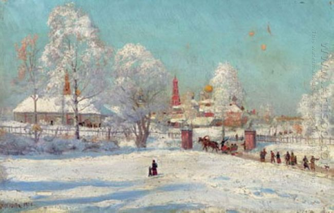 Monastery In The Snow 1900