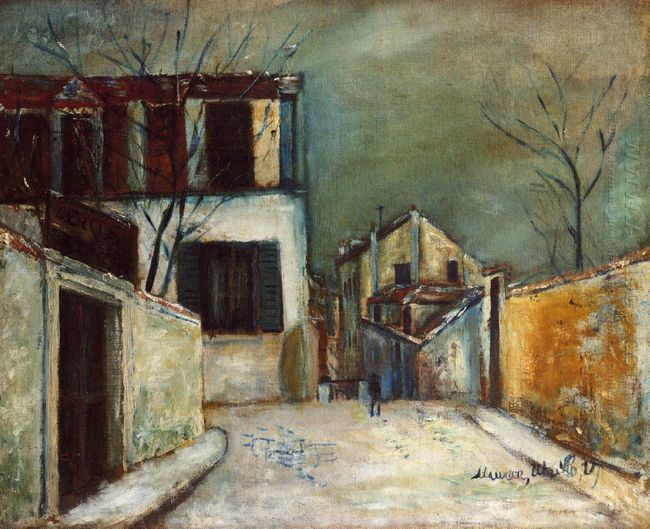 Mont Cenis Street In The Snow