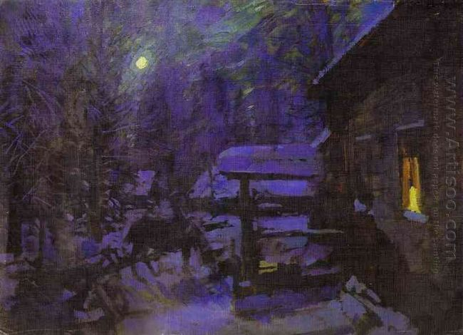 Moonlit Night Winter 1913