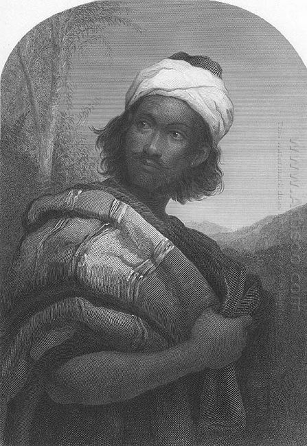 Moorish Chief Engraving