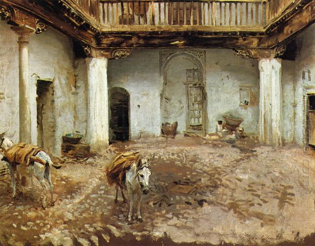 Moorish Courtyard 1913