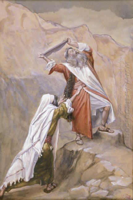 Moses Destroys The Tables Of The Ten Commandments