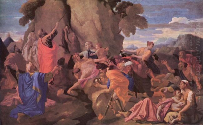 Moses Striking Water From The Rock 1649