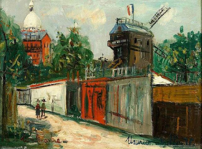 Moulin De La Galette And Sacre Coeur