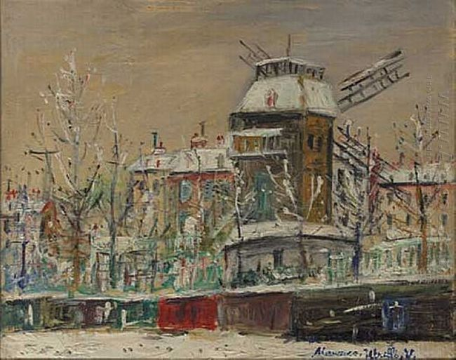 Moulin De La Galette Under The Snow 1