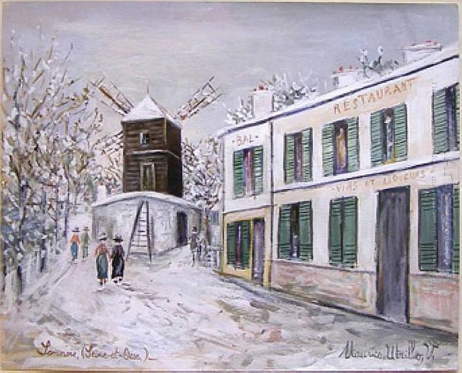 Moulin In Sannois Under Snow