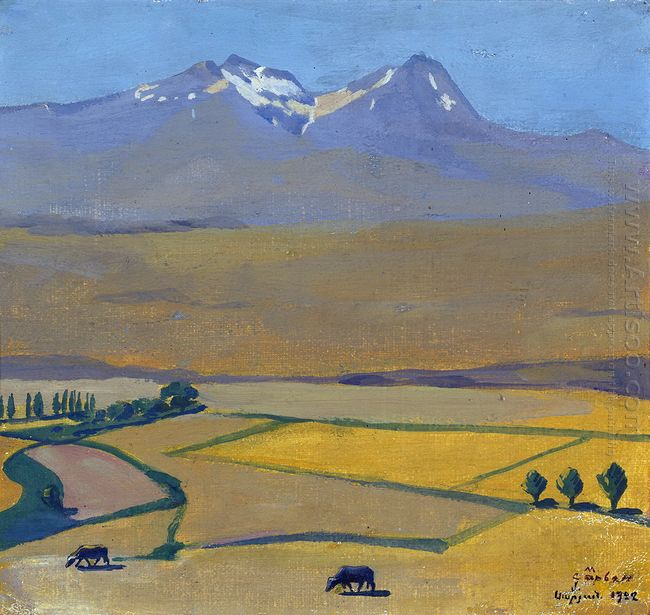 Mount Aragats At Summer 1922