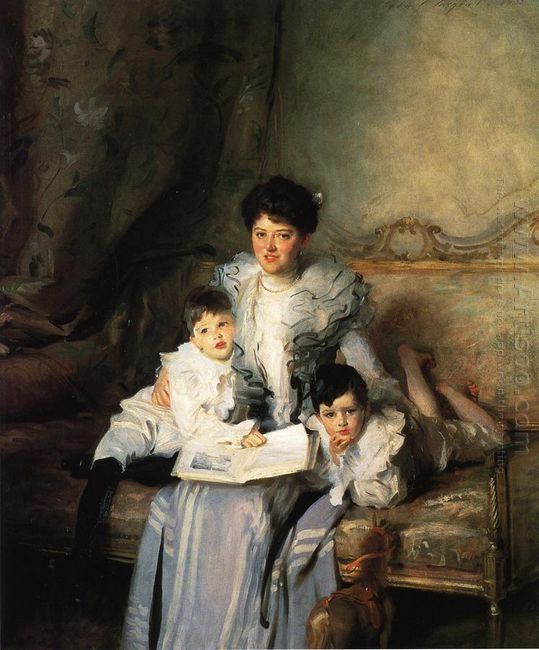 Mrs Knowles And Her Children 1902