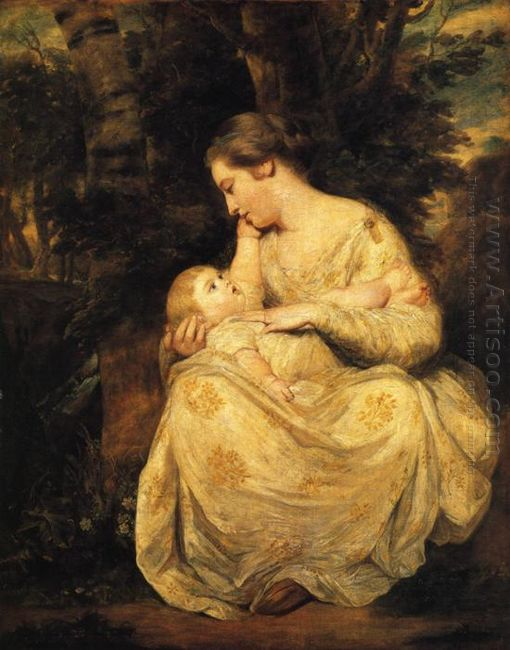 Mrs Susanna Hoare And Child 1764