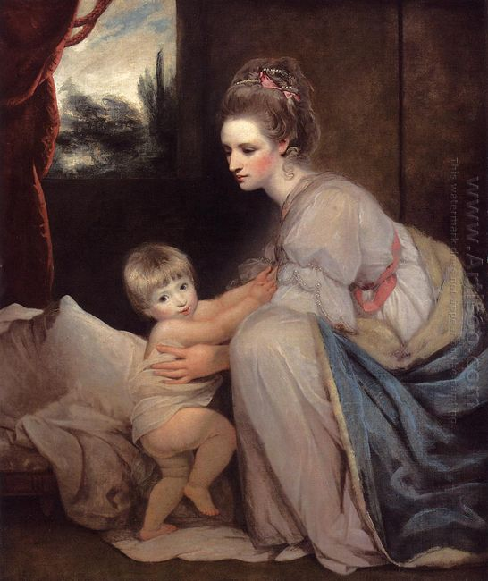 Mrs William Beresford And Her Son John Later Lord Decies