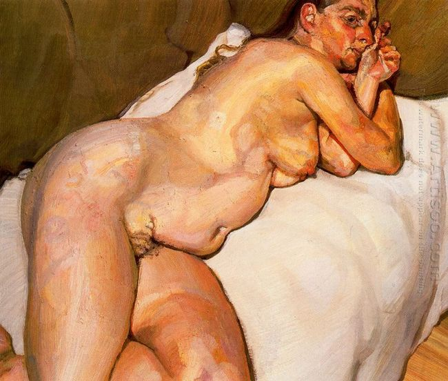 Naked Woman On A Sofa 1985