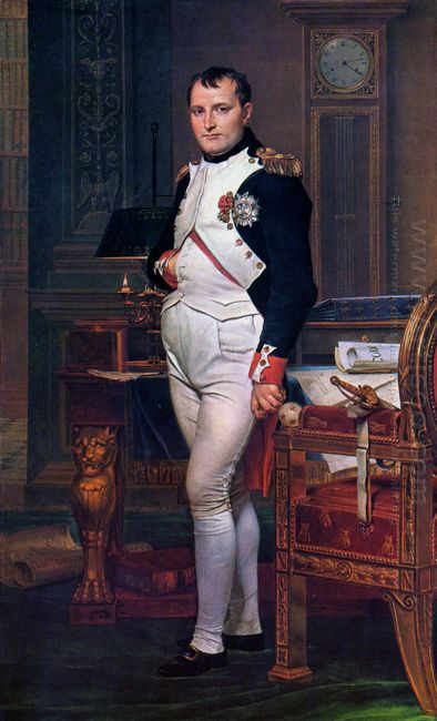Napoleon Bonaparte In His Study At The Tuileries 1812