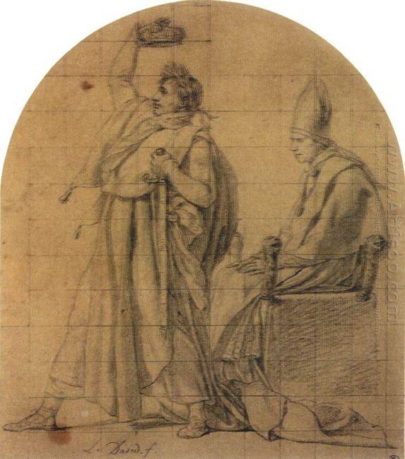 Napoleon Holding Josephine S Crown 1805