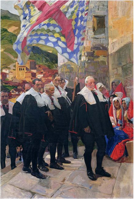 Navarre The Town Council Of Roncal 1914