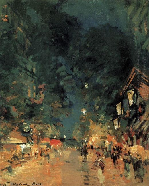Nice Street At Night 1909