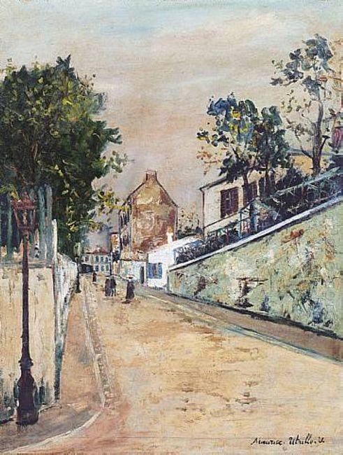 Norvins Street Near Montmartre