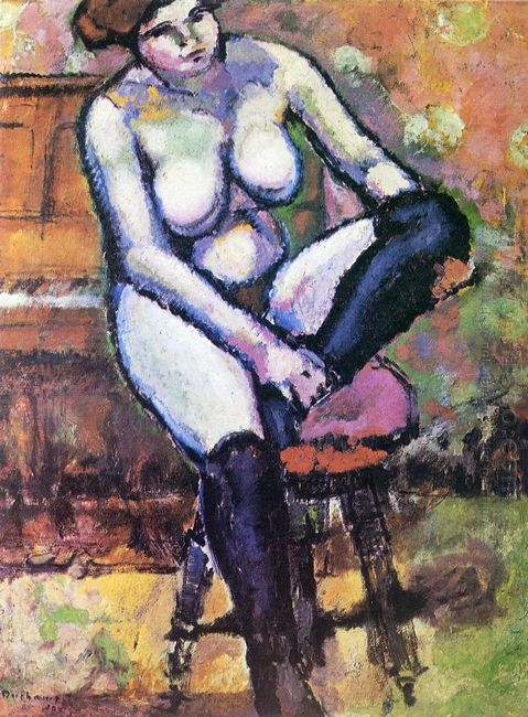 Nude With Black Stockings 1910