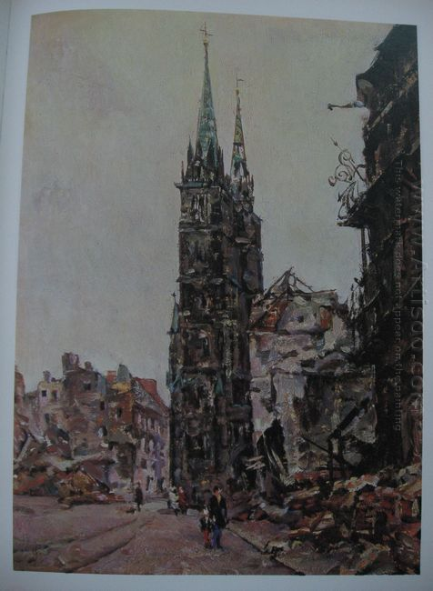 Nuremberg Cathedral Of St Lorenz 1945