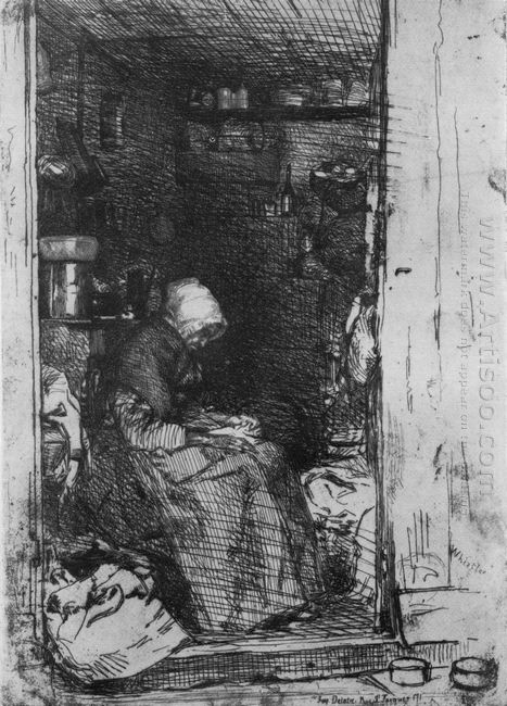 Old Woman With Rags