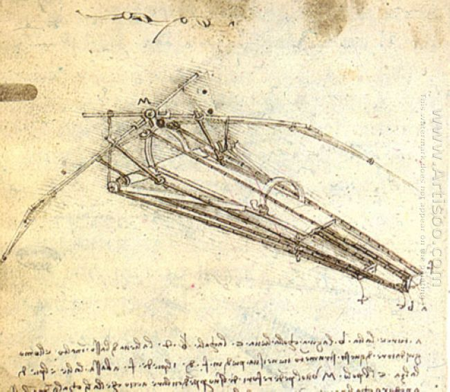 One Of Leonardo Da Vinci S Designs For An Ornithopter